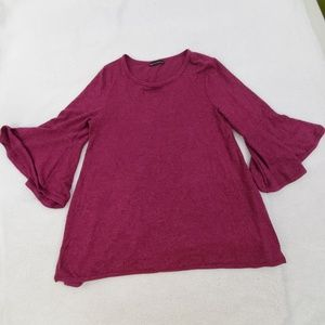 Nally Millie Top PS Petite S Knit Purple Pink Bell